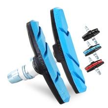 Одна пара тормозных колодок для горного велосипеда MTB тормоза велосипедные V-Brake Holder обувь Резиновые блоки прочные велосипедные аксессуары 2510