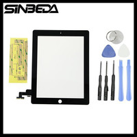 Sibeda Black Or White Touch Screen Glass Panel Digitizer Replacement For IPad 2 A1395 A1396 A1397