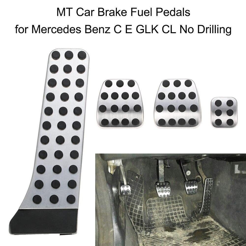 NENHUM Carro BROCA de Aço inoxidável de Combustível Pé Do Pedal de Freio para Mercedes Benz C E GLS CL GLK classe 2011-2015