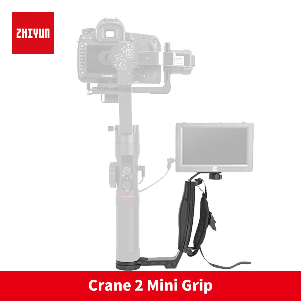 Zhiyun Crane 2 gimbal L bracket for LED Light/Microphone/Monitor Handle Holder for FEIYU A1000 A2000 RONIN S Smooth 4 Q OSMO 2 ulanzi mini tripod l bracket stand with 2 hot shoe for zhiyun smooth q dji osmo mobile2 feiyu gimbal by mm1 microphone light