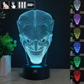 Jack smiley 3D Night Light RGB Changeable Mood Lamp LED Light DC 5V USB Decorative Table Lamp Get a free remote control