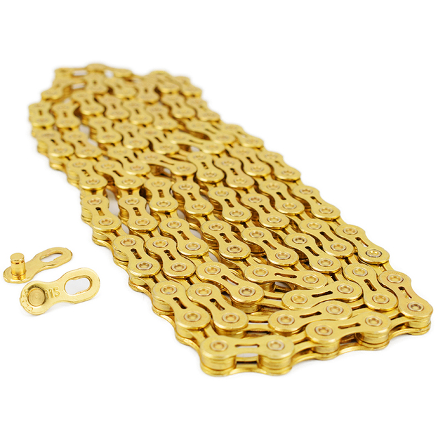 VG Sports Ultralight 9 10 11 Speed Bicycle Chain Bike Chain Half full Hollow 116L Silver Gold Mountain MTB Road Bike Chains