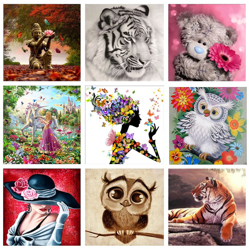 Cartoon Animal DIY Diamond Painting Embroidery Cross Stitch Craft Art Gift