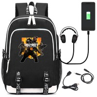Hot Game Call of Duty Black Ops USB Backpack Travelling Laptop Shoulder Bags Student School Bag Bookbags
