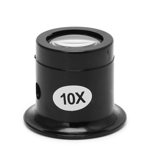 5X 10X Monocular Glass Magnifier Watch Jewelry Repair Tools Loupe Lens Black useful Eye Optical Loop Magnifying Tool kits