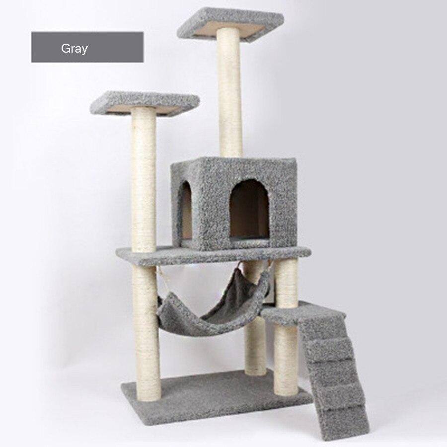 Sisal Pets Cat Climbing Frames Toys Interactive Gatos Mascotas Shelves Cat Tree Interesting Soft Toys For Kittens QQM2196
