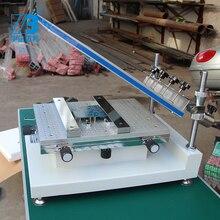 Стол для трафаретной печати руководство smt припойная паста печати стол Экран принтер печатная машина для трафаретной печати алюминиевый Пастер
