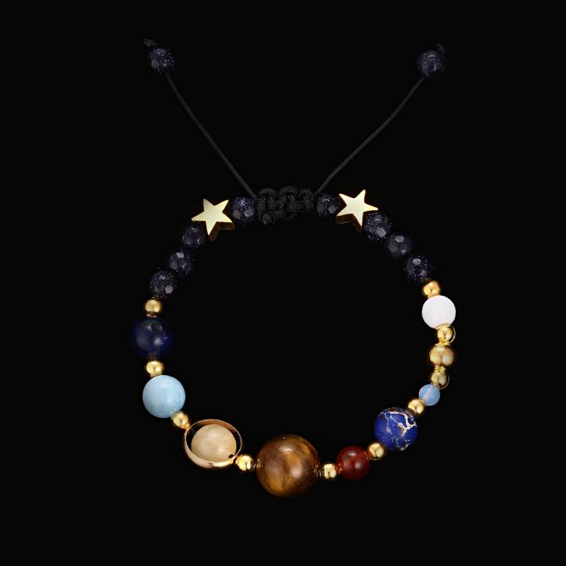 Handmade Solar System Bracelet Universe Galaxy The Eight Pla