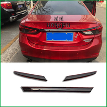 Car styling Rear Trunk Lid Cover Trim Tailgate Boot Back Door Cover Trim Sticker Molding For Mazda 6 M6 Atenza Sedan 2014 2017