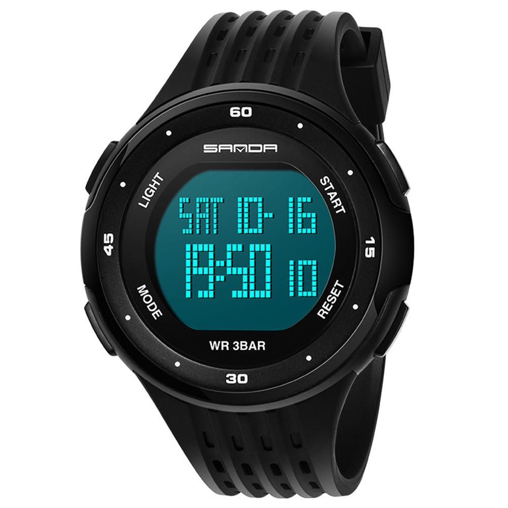 Sanda Men's Women Led Watches Waterproof LED Display Watches Electronic Watch Outdoor Sports Men Women Girls Watch San0