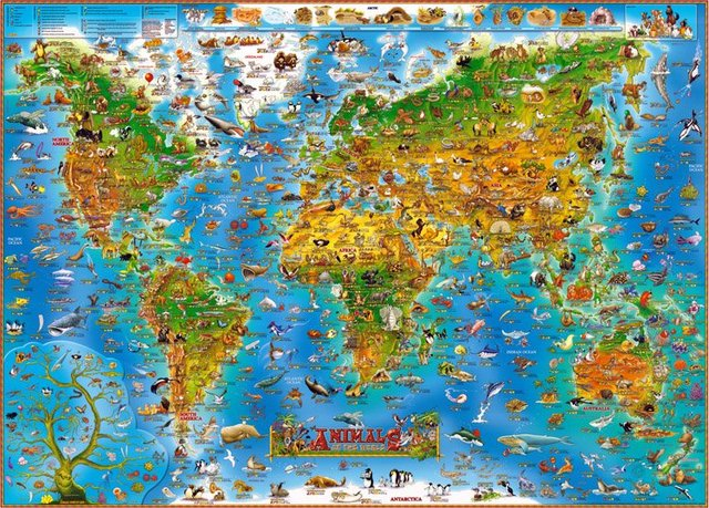 Genuine wood 1500/1000 World Map 500 thousand color rainbow gradient ...