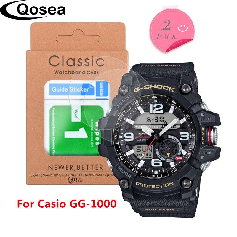 (2 pack) écran de protection En Verre Trempé Pour Casio GG-1000 Protecteur Ultra Clair Explosion-preuve Pour Casio-1000 9 H Prime Film