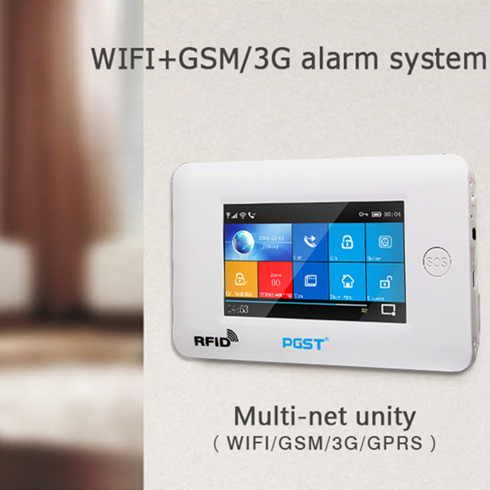 Wifi APP Control Smart Home Security with Touch Color Screen and PIR Motion Sensor 2