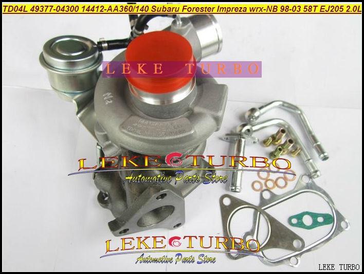 GELUOXI CHRA Turbocharger Cartridge Core 49377-04300 for Subaru Impreza//Impreza WRX//Forester with TD04L Turbo