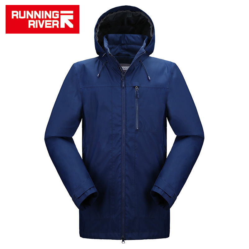 RUNNING RIVER Brand Men Hiking Jacket 4 Colors Size 46 - 56 High Quality Waterproof Windbreaker For Man Outdoor Clothes #K8368 running river brand winter thermal women ski down jacket 5 colors 5 sizes high quality warm woman outdoor sports jackets a6012