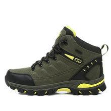 حذاء تسلق الجبال عالي الجودة للشتاء للنساء للمشي لمسافات طويلة مضاد للماء حذاء رياضي بنعل مطاطي للرجال من Nubuck