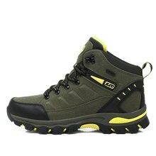 Hiver haut femmes randonnée imperméable à leau Trekking bottes escalade chaussures sport semelle en caoutchouc chaussures Nubuck hommes Couple