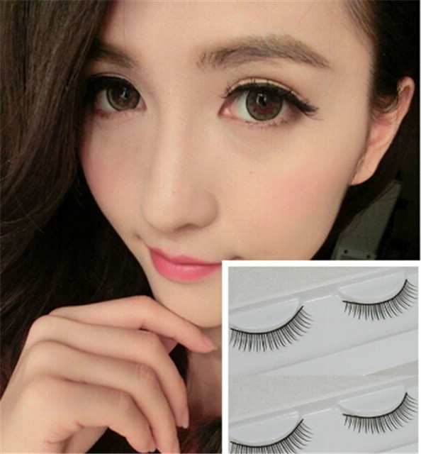 e4ffbc105e6 High Quality Natural False Eyelashes Natural Look Eyelashes Women Makeup  Eye Lashes Styling Tools Free Shipping 2pcs/lot