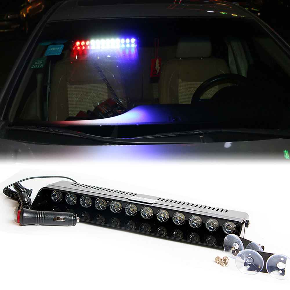 castaleca Car Led Emergency Strobe Flash Varningslampa 12V 12 Led 12W - Bilbelysning - Foto 2
