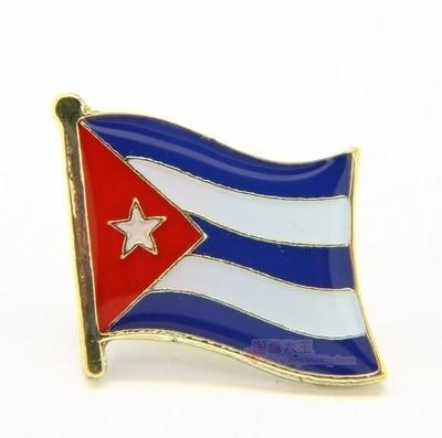 National Flag Metal Lapel Pin Flag Pin Cuba by Xzbn