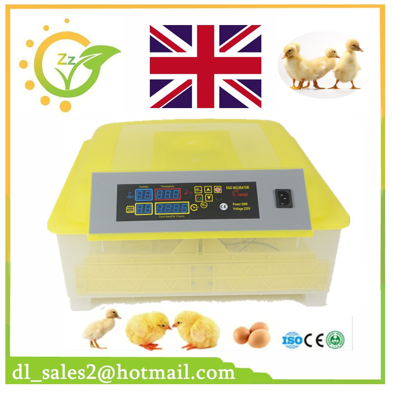 New 220V 48 Eggs Automatic Temperature Control Egg Turning Cheap China Small Mini Parrot Quail Duck Chicken Egg Incubator