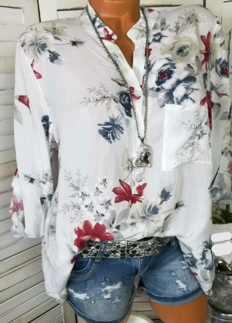 Summer Women Tops Blouses 2019 Autumn Elegant Long Sleeve Print V-Neck Chiffon Blouse Blusa Casual Loose Shirts Plus Size 5XL 3