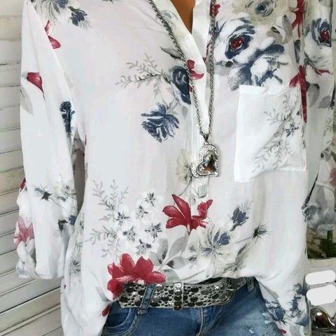 Summer Women Tops Blouses 2019 Autumn Elegant Long Sleeve Print V-Neck Chiffon Blouse Blusa Casual Loose Shirts Plus Size 5XL Karachi