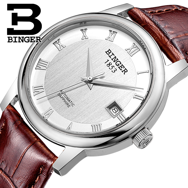 Switzerland BINGER watches men luxury brand Mechanical Wristwatches sapphire full stainless steel Clock 1 year Guarantee B653-1 подвесная люстра st luce onde sl116 503 03 page 3