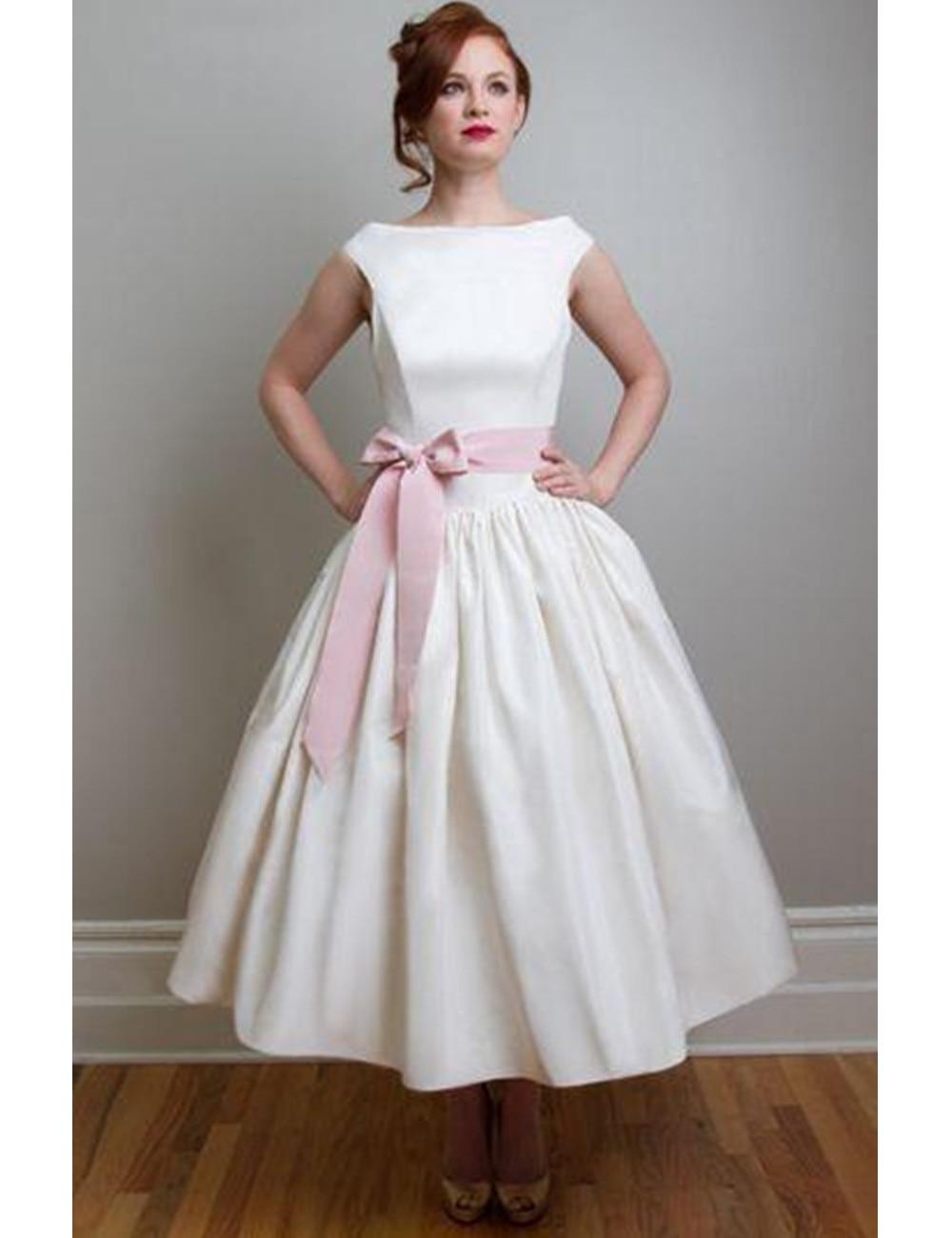 Tea Length Wedding Dresses Vintage Style Promotion-Shop for ...