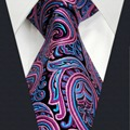 """U15 Mens Tie Paisley Rosa Padrão Handmade Do Casamento Da Moda Combinando Lenço Clássico Vestido de Marca dos homens Tamanho Extra Longo 63 """"gravata"""