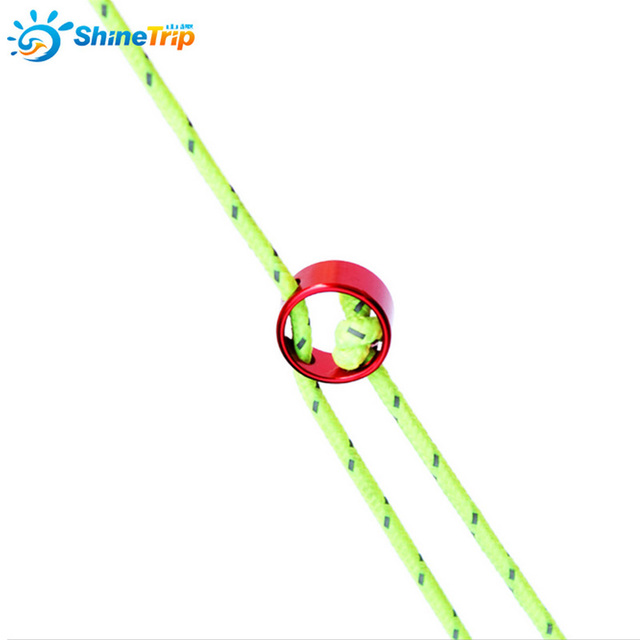 10pcs /Lot Shinetrip Tent Wind Rope Round Regulating Buckle Camping Cord Tensioners Outdoor Fixing Ring Tent Accessories