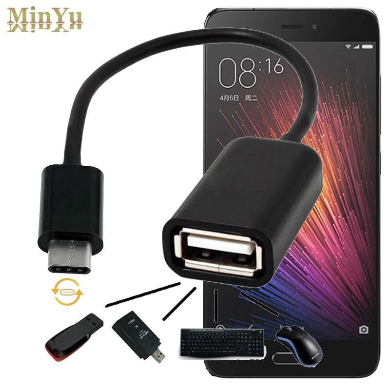 USB-C 3.1 C tipo - USB 2.0 kabelių adapteris OTG duomenų sinchronizavimo įkrovimo jungtis Xiaomi 5S Plus 5 Mi5 Mi4c Mi4i Mi Pad 2 OTG