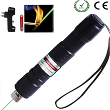 Hunting Green Laser Pointer 532 nm 10000m Hang-type Lazer Pen Long Distance Lasers Sight +EU Charger+18650 Battery