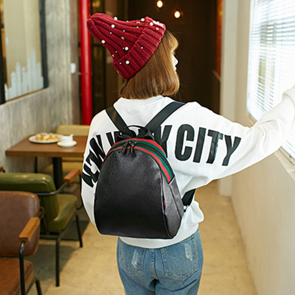 girl lady daily multi functional laptop book outer door travel leather backpack shopping school college big