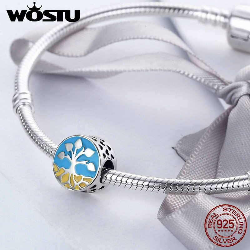 WOSTU แท้ 100% แท้ 925 เงินลูกปัดเดิม WST Charm สร้อยข้อมือ DIY เครื่องประดับอุปกรณ์เสริมของขวัญ FIC170