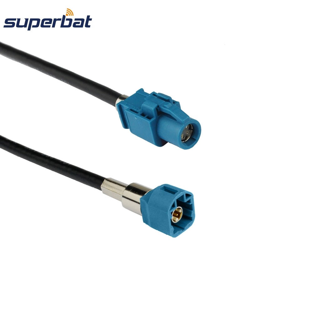 Superbat Vehicle High-speed Transmission FAKRA HSD Z Water Blue LVDS 3m Shielded Dacar 535 4-Core Cable