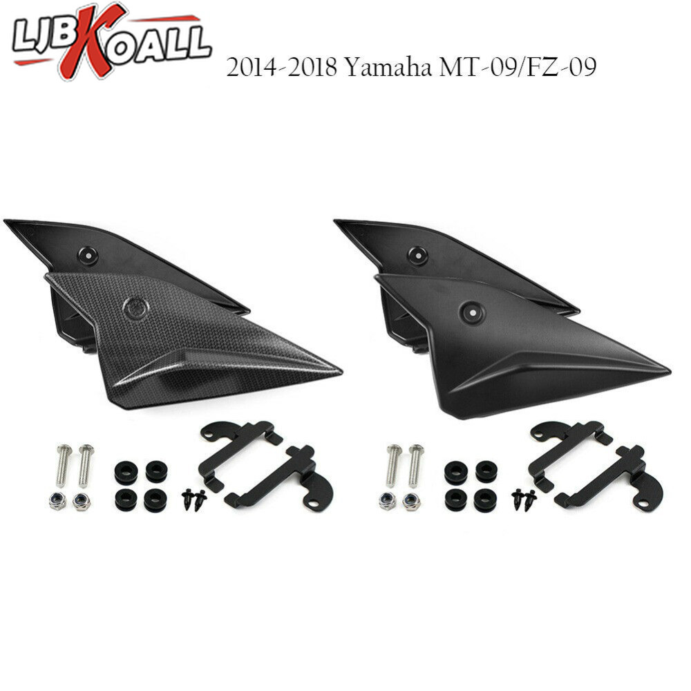 MT 09 MT09 2017 Motorcycle Side Panels Cover Fairing Cowling Plate Covers For Yamaha MT-09 FZ 09 2014 2015 2016 2017 2018 BlackMT 09 MT09 2017 Motorcycle Side Panels Cover Fairing Cowling Plate Covers For Yamaha MT-09 FZ 09 2014 2015 2016 2017 2018 Black