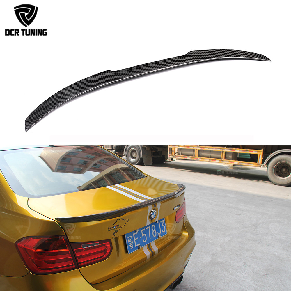 For bmw F30 carbon spoiler M4 style 320i 328i 335i 326d and F80 M3 2013 2014 2015 2016 - UP F30 sedan carbon fiber wing spoiler yandex w205 amg style carbon fiber rear spoiler for benz w205 c200 c250 c300 c350 4door 2015 2016 2017