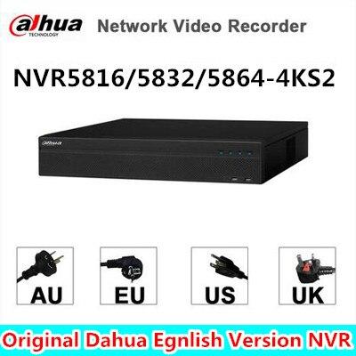 Dahua 16/32/64CH 2U 4 Karat H.265 Netzwerk Video Recorder NVR5832-4KS2 NVR5816-4KS2, NVR5864-4KS2 freies DHL verschiffen