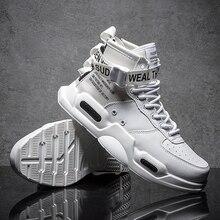 Новые модные мужские кроссовки с высоким берцем спортивная обувь для мужчин черный/белый на открытом воздухе прогулочная удобная спортивная обувь Size39-45