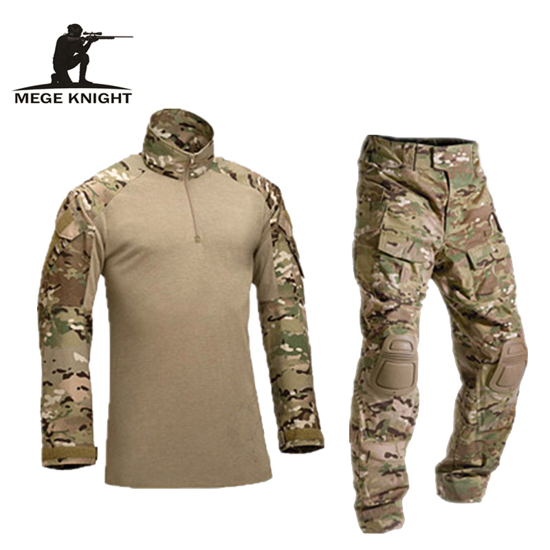 Tactical military uniform clothing army of the military combat uniform tactical pants with knee pads camouflage clothes tactical military uniform combat uniform tactical pants with knee pads camouflage suit army military cs shooting hunting clothes