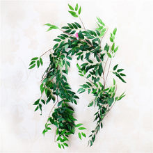 170cm Wedding Ceiling Winding Road Layout Rattan Hotel Window Decoration Artificial Plants Willow Vine Faux Foliage Wreath 1pc(China)