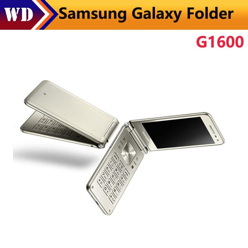 """bilder für Original Samsung Galaxy Ordner G1600 (2016) Dual SIM LTE Handy Quard Kern 480x800 1,4 GHz 16 GB ROM 2 GB RAM 3,8 """"zoll Telefon"""