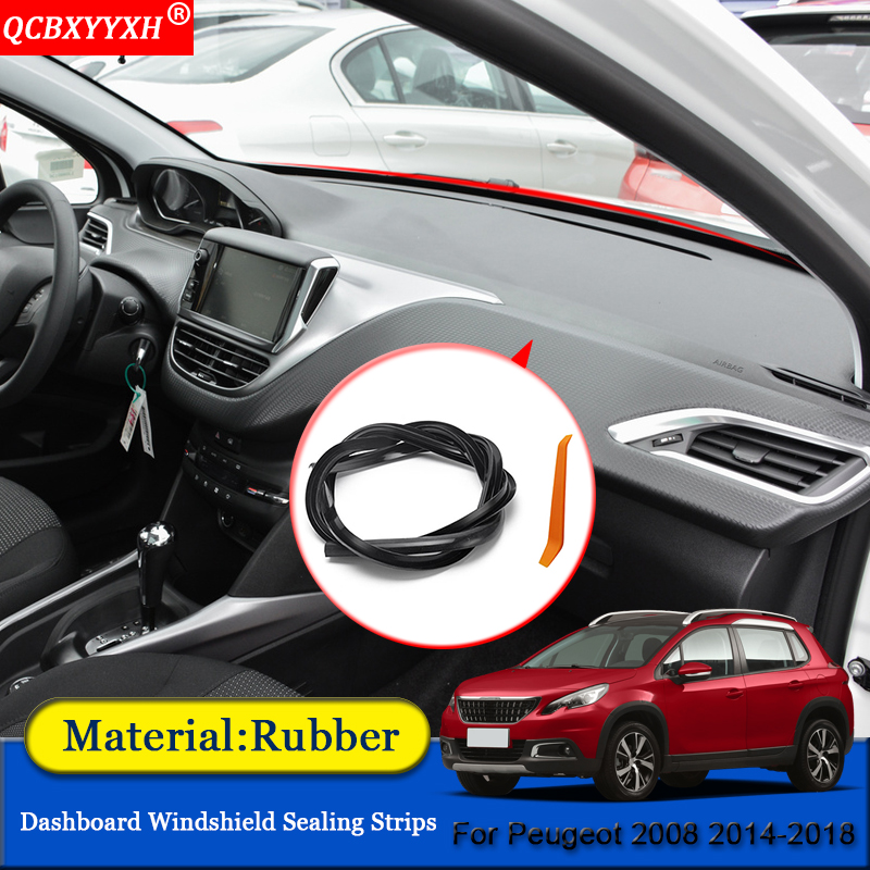 QCBXYYXH Car-styling Rubber Anti-Noise Soundproof Dustproof Car Dashboard Windshield Sealing Strips For Peugeot 2008 2014-2018QCBXYYXH Car-styling Rubber Anti-Noise Soundproof Dustproof Car Dashboard Windshield Sealing Strips For Peugeot 2008 2014-2018