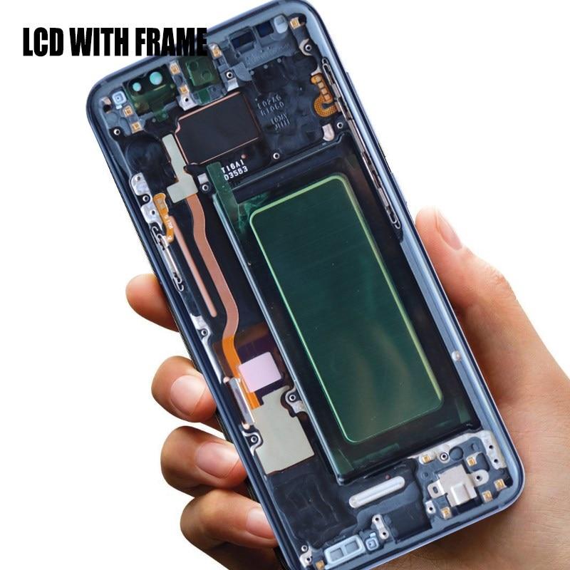 HTB1QZmdJFzqK1RjSZFvq6AB7VXaa 100% ORIGINAL SUPER AMOLED S8 LCD with frame for SAMSUNG Galaxy S8 G950 G950F Display S8 Plus G955 G955F Touch Screen Digitizer