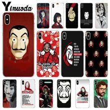 Yinuoda Spain TV La Casa de papel Customer High Quality Phone Case for iPhone X XS MAX 6 6S 7 7plus 8 8Plus 5 5S XR недорого