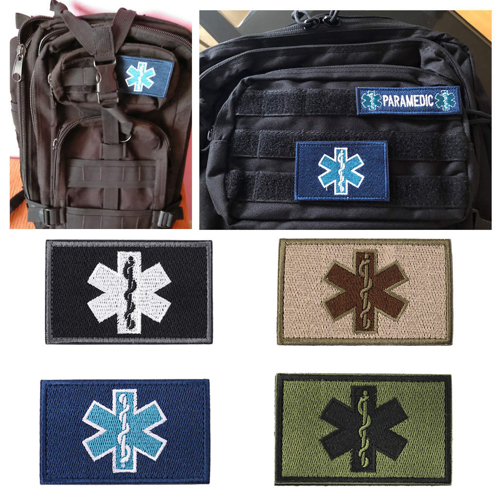 Embroidery Patch Emergency Medical Technician EMT Tactical Morale Armband Badge