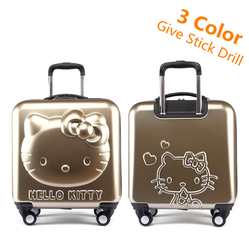 Lovely Hello Kitty Luggage Children Trolley Travel bag 18 Inch Cartoon Kids Suitcases Hello Kitty bag For Girls lovely hello kitty luggage children trolley travel bag 18 inch cartoon kids suitcases hello kitty bag for girls