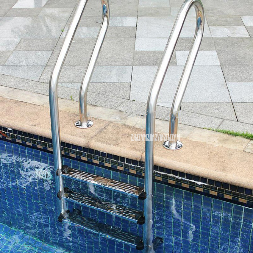 155cm Height 3 Step Ladder In-Ground Swimming Pool Equipment Anti Skid Ladder 304 Stainless Steel SF-315 Suit for 1.0-1.4m Depth inter step is sf sonyz2clg