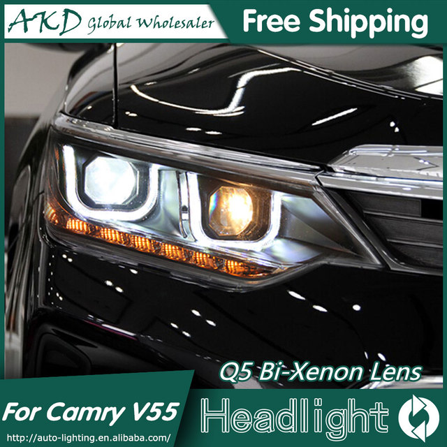 Akd Car Styling For New Camry V55 Led Headlights 2017 2016 Headlight Drl Bi Xenon Lens High Low Beam Parking Fog Lamp